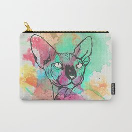Watercolor Sphynx Carry-All Pouch