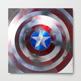 Captain Shield Metal Print