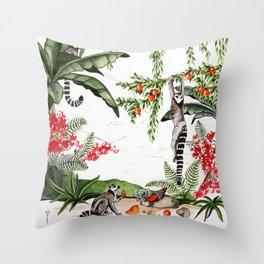 Ring-tailed lemurs of Madagascar .1 Throw Pillow