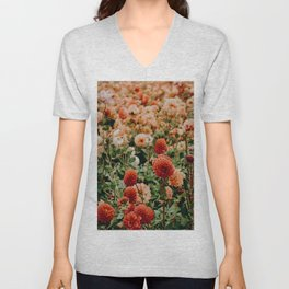 Vintage Flower Garden (Color) Unisex V-Neck
