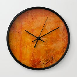 Abstract golden Autumn Wall Clock