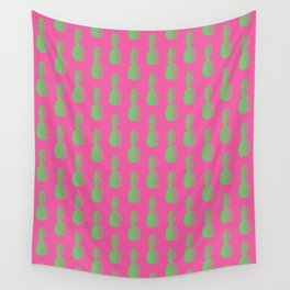 Pineapples - Pink & Green #464 Wall Tapestry