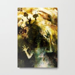 Spinner of Lies Metal Print