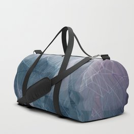 Ameythist Crystal Inspired Modern Abstract Duffle Bag
