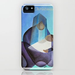 Merry Christmas Virgin Mary And Child  iPhone Case