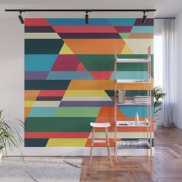 The hills run to infinity Wall Mural