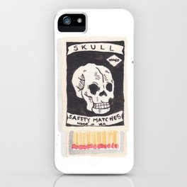 Skull Matchbox iPhone Case