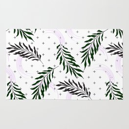 Crosses and leaves Rug