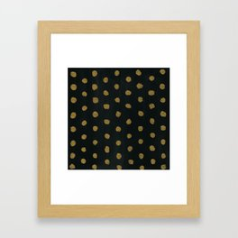 GOLD DOTS Framed Art Print