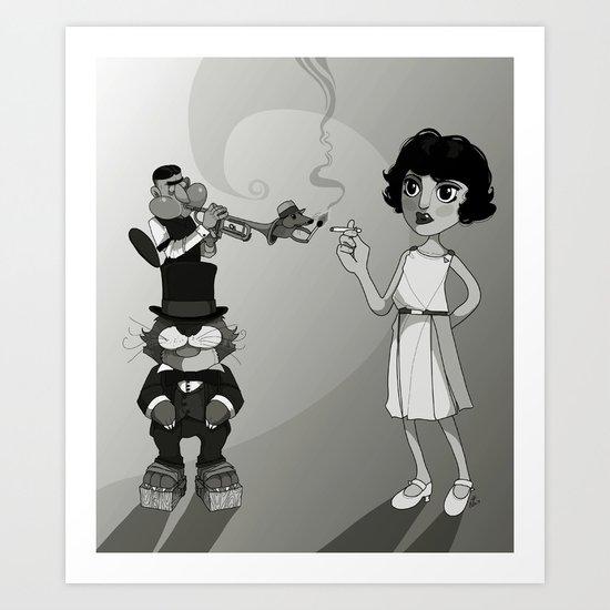 Flapper. Art Print