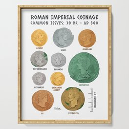 Roman Coin Chart Serving Tray