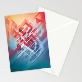Future Cityscape Stationery Cards