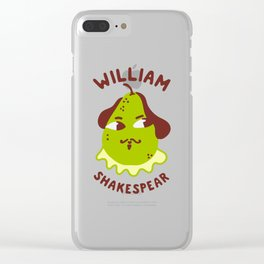 Funny William ShakesPear Clear iPhone Case