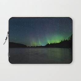 Northern Lights above a lake Laptop Sleeve
