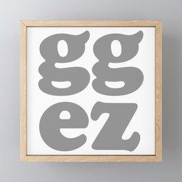 gg ez Framed Mini Art Print