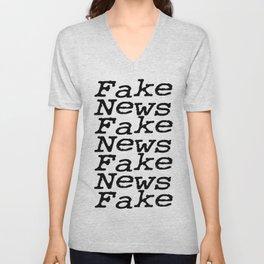 Fake News Unisex V-Neck