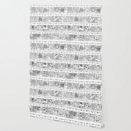 Veggie Seeds Patten - Line Art Wallpaper