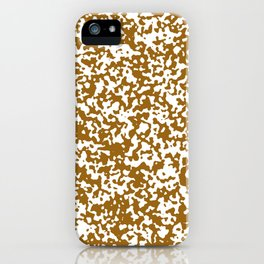 Small Spots - White and Golden Brown iPhone Case