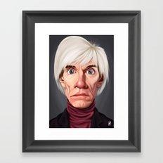 Celebrity Sunday ~ Andy Warhola Framed Art Print