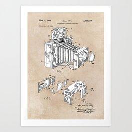 patent art 1966 Bing photographic camera accessory Art Print