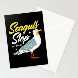 Seagull Funny Stop It Now Seabirds Sea Gull Beach Stationery Cards