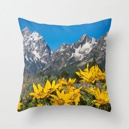 Grand Tetons Mountains National Park Wyoming Throw Pillow