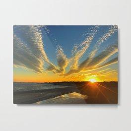 Trippy Sunset Metal Print