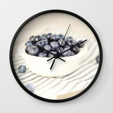 Scalloped Cup Full of Blueberries - Kitchen Decor Wall Clock