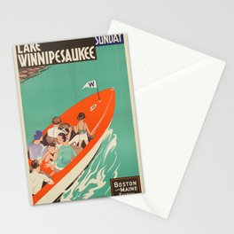 Vintage poster - Lake Winnipesaukee Stationery Cards