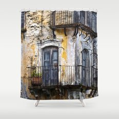 Urban Sicilian Facade Shower Curtain