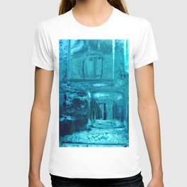 355 - Abstract Design through the Blue Bottle T-shirt