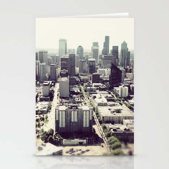 downtown seattle Stationery Cards