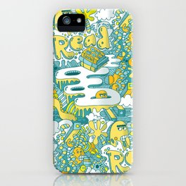 READ BOOKS LITTLE MONSTERS iPhone Case