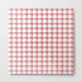 AFE Coral Houndstooth Metal Print