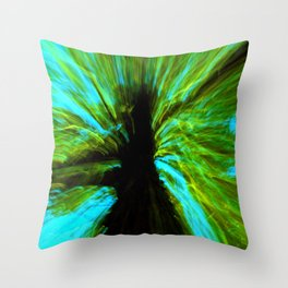 the negative tree Throw Pillow