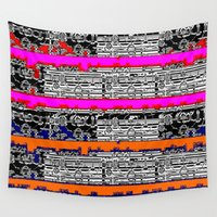 data Wall Tapestries featuring DATA by lucborell