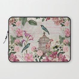 Nostalgic Birds And Flowers Laptop Sleeve