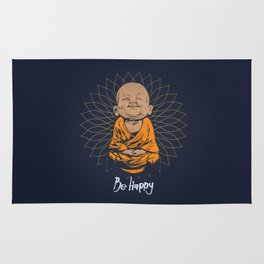 Be Happy Little Buddha Rug