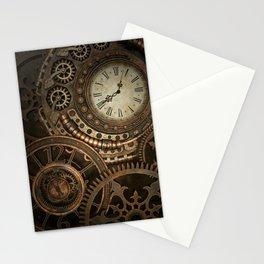 Steampunk Clockwork Stationery Cards