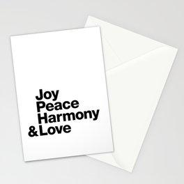 Joy, Peace, Harmony & Love Stationery Cards