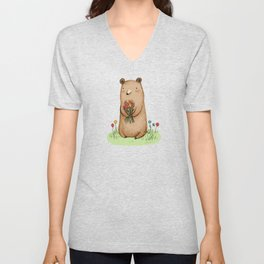 Bear Bouquet Unisex V-Neck
