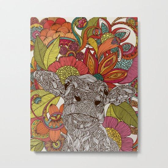 Arabella and the flowers Metal Print