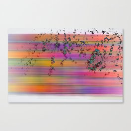 rainbow with 3d splashes Canvas Print
