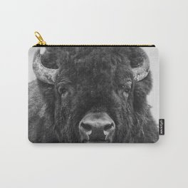 Buffalo Print, Bison Wall Art, Photography Print Carry-All Pouch