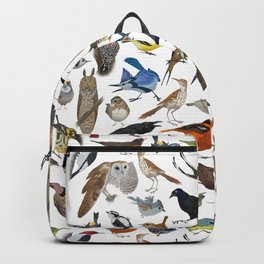Bird Pattern Backpack