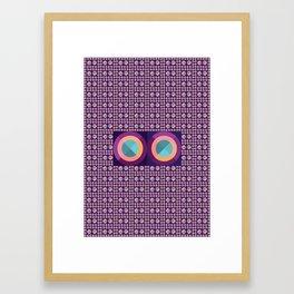 Eyes_pattern Framed Art Print