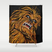 chewbacca Shower Curtains featuring Chewbacca by Laura-A