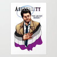 fandom Art Prints featuring Fandom Pride : Asexuality by Cinensis