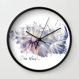 Dandelion Blue Graphic - Horizontal  Wall Clock