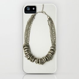Mongolian silver necklace iPhone Case